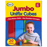 Didax, Jumbo Unifix® Cubes, 20 Pieces, Ages 3 Years and Older