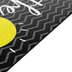 Flagship Carpets, Be the Light Rug, Black, White, Yellow, with Gray Chevron, 2 Feet x 3 Feet