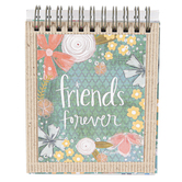 Brownlow Gifts, Friends Forever EaselBook, Spiral Bound, 128 Pages, 4 x 5 inches