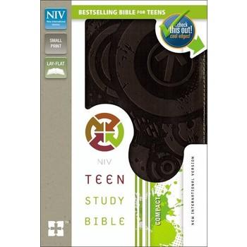 NIV Teen Study Bible Compact, Duo-Tone, Espresso