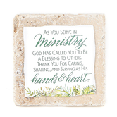 Product Concept Manufacturing, As You Serve In Ministry Tabletop Tile, Resin, Stone, 4 x 4 x 1/2 inches