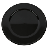 Black Brushed Metallic Plate Charger, Plastic, 13 inches