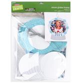 Brother Sister Design Studio, Christmas Crafts, Foam Snow Globe Frame Ornament Kit, Makes 12