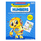 Scholastic, Little Learner Packets: Numbers Activity Book, Reproducible, 96 Pages, Grades PreK-K