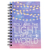 SoulScripts, Matthew 5:14 You Are the Light of the World Journal, Spiral-Bound Hardcover, Purple, 8 x 5 1/4 inches, 160 pages