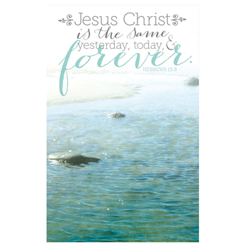 Salt & Light, Jesus Christ Is The Same Church Bulletins, 8 1/2 x 11 inches Flat, 100 Count