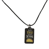 Glitter and Grace, Let's Taco Bout Jesus Cord Necklace, Black/Silver, 16 inch Cord