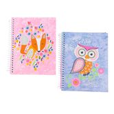 Top Flight, Flying Beauties Notebook, 6.5 x 8.5 Inches, Assortment, 140 Sheets