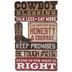 Open Road Brands, Cowboy Blessing Wall Plaque, MDF, 18 x 11 inches