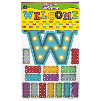 Teacher Created Resources, Marquee Welcome Bulletin Board Set, 42 Pieces