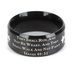 Spirit & Truth, Isaiah 40:31, Strength Black Cross, Men's Ring, Stainless Steel, Size 10