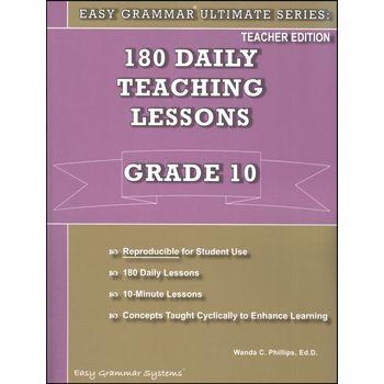 Easy Grammar Ultimate Series: 180 Daily Teaching Lessons Grade 10 Teacher