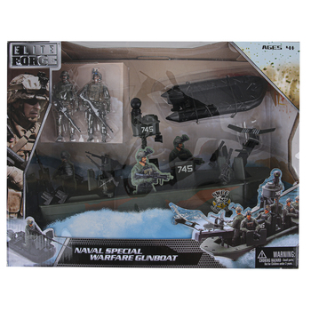 Sunny Days, Elite Force Naval Special Warfare Gunboat, 7 Pieces, Ages 4 to 15 Years Old