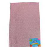 Silly Winks, Glitter Foam Sheet, 12 x 18 Inches, 1 Each, Rose Gold