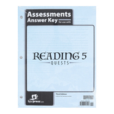 BJU Press, Reading 5 Assessments Answer Key, 3rd Edition, Grade 5