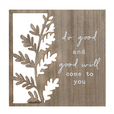 Designs Direct Creative Group, Do Good Plaque, MDF, Woodgrain, 10 x 10 inches