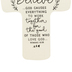 Lighthouse Christian Products, Always Believe Wall Cross, Ceramic, Cream, 5 1/4 x 7 1/2 inches