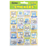 Eureka, Close-Knit Class Stickers, 1 x 1 Inch, Assorted, Pack of 120