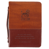Swanson, 1 Corinthians 16:13 Stand Firm Bible Cover, Imitation Leather, Brown & Tan, Large