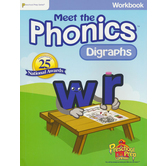 Preschool Prep Company, Meet the Phonics: Digraphs, Workbook, 100 Pages, Grades PreK-1