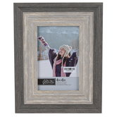 Green Tree Gallery, Two-Tone Wood Tabletop Photo Frame, Grey Woodgrain, 7.50 x 9.25 Inches, 4 x 6 Photo