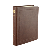 ESV Wide Margin Journaling Bible, Threshold Design, Bonded Leather, Mocha
