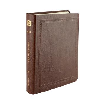 ESV Wide Margin Journaling Bible, Threshold Design, Bonded Leather, Mocha