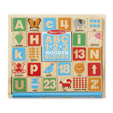Melissa & Doug, ABC and 123 Wooden Block Set, Ages 3 to 7 Years Old, 26 Pieces