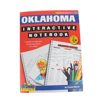 Gallopade, Oklahoma Interactive Notebook: A Hands-On Approach, Paperback, 68 Pages, Grades 3-5