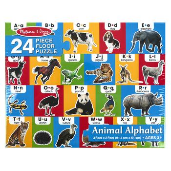 Melissa & Doug, Animal Alphabet Floor Puzzle, 24 Pieces, Ages 3 and Older