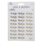 the Paper Studio, Stickabilities, Thank You Script Stickers, Multiple Colors, Set of 46 Stickers