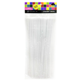 Tree House Studio, Chenille Stems Value Pack, White, 6mm x 12 inches,140 Count