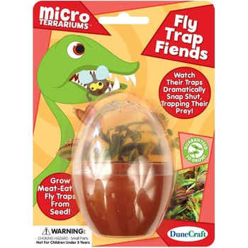 DuneCraft, Fly Trap Fiends Micro Terrarium, 5 x 7 x 1 Inches, 4 Pieces, Ages 5  and up
