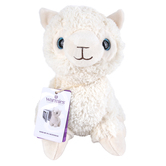 Warmies Cozy Plush Llama, Microwavable, Lavender Scent, White, 13 inches