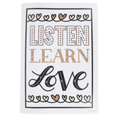 Schoolgirl Style, Simply Stylish Listen Learn Love Poster, 19 x 13 1/4 Inches, 1 Piece