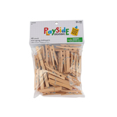 Playside Creations, Mini Spring Clothespins, 2 x .50 x .25 Inches, Natural, Pack of 48