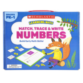 Scholastic, Match Trace and Write Numbers Learning Mats, 15 Mats, Grades PK-1
