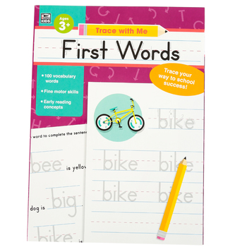 Thinking Kids, Trace With Me First Words Activity Book, Paperback, Grades PreK-2