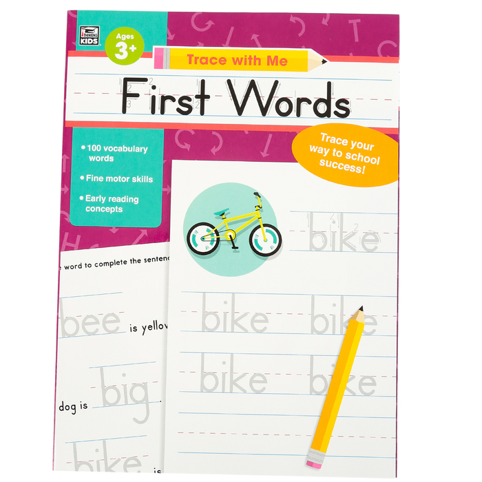 preschool activity book first words learning new words.