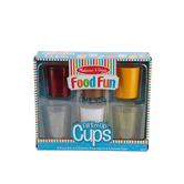 Melissa & Doug, Food Fun Fill 'Em Up Cups, Plastic, 8 Pieces, Ages 3 and Older