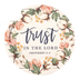 Renewing Faith, Proverbs 3:5 Trust In The Lord Car Coaster, Absorbent Sandstone, White, 2 1/2 inches