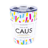 Mary Square, CAUS Make-a-Wish Tumbler, Stainless Steel, Paint Splash, 12 ounces