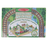 Melissa & Doug, Take-Along Railroad Play Set, 17 Pieces, Ages 3 and Older