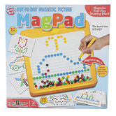 Small World Toys, MagPad Magnetic Dot-To-Dot Free Play Drawing Board, 12.5 x 12.5 Inches, Ages 3-9