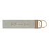 Mary Square, Faith Over Fear Key Fob, Faux Leather, Gray, 7 x 1 1/4 inches