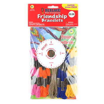 Pepperell Crafts Rexlace Friendship Bracelet  Kit With Instruction Book