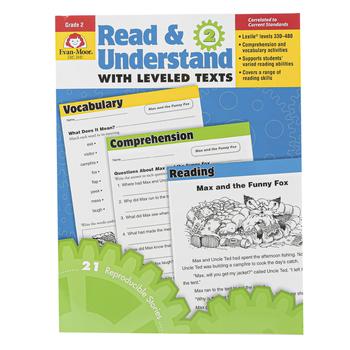 Evan-Moor, Read & Understand with Leveled Texts, Grade 2