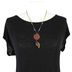 Wildflower Road, Ephesians 2:8 Saved By His Grace Pendant Necklace, Zinc Alloy, Copper, 20 inches