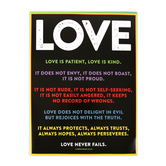 Renewing Minds, Love Is....Chart, Multi-Colored, 17 x 22 Inches, 1 Each