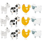 Creative Teaching Press, Farm Friends Large Cut-Outs, 6 Inches, 36 Pieces